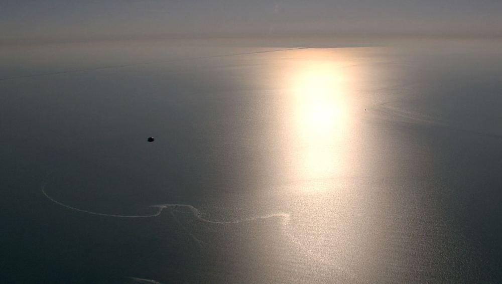 Ovni au dessus de la mer des Wadden filmé par la TV Néerlandaise