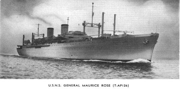25/4/1958 Etoile qui suit un Navire Uss-rose
