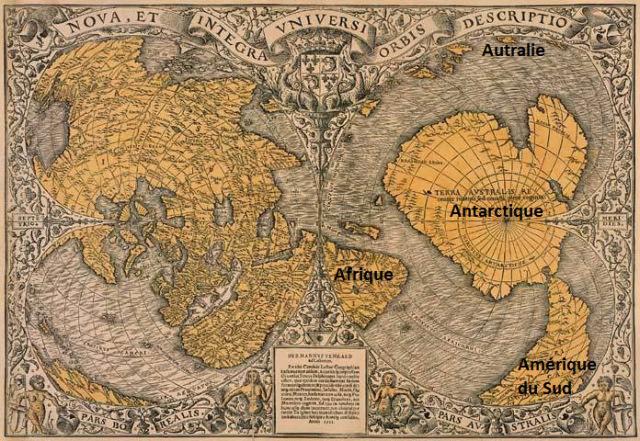 Carte dessinée par Oronteus Finaeus en 1531