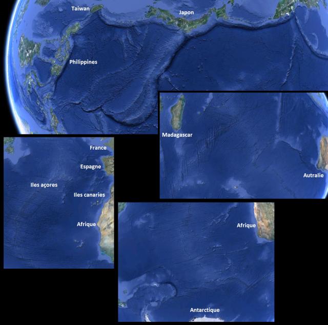 Nos satellites sont capables de voir la géologie des fonds sous-marins de toute la planète