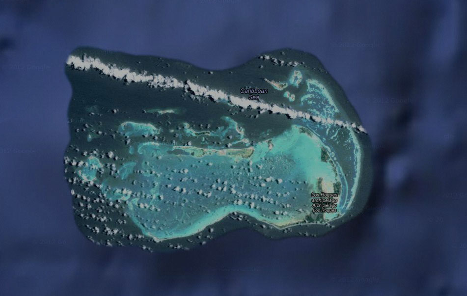 L'archipel de Los Roques (©Google Earth)