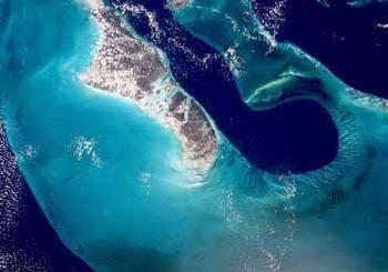 Vue satellite de la « langue de l'océan »