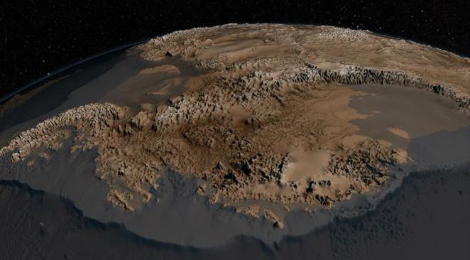 C'est la première fois que la NASA réussit à faire une carte aussi précise de l'Antarctique. Crédit DR/NASA Read more at http://www.atlantico.fr/decryptage/sans-calotte-quand-nasa-devoile-quoi-ressemblerait-antarctique-sans-glace-755092.html#YYSvbVBW00Urocz4.99