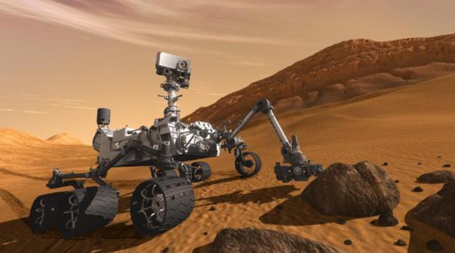Une analyse effectuée par le robot Mars Curiosity a permis de découvrir que le sol martien contenait de l'eau. (NASA / AFP)