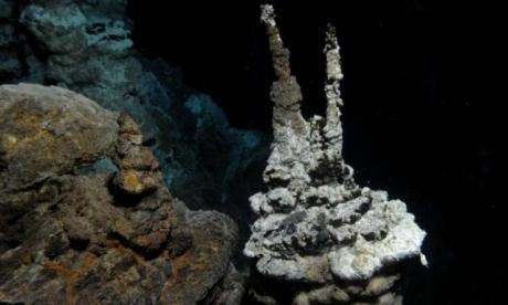 Les Lokiarchaeota, des microbes unicellulaires, ont été découverts dans un système de cheminées hydrothermales sous-marines entre le Groenland et la Norvège, à une profondeur de 2530 mètres. Crédits : Centre for Geobiology (University of Bergen, Norway) by R.B. Pedersen