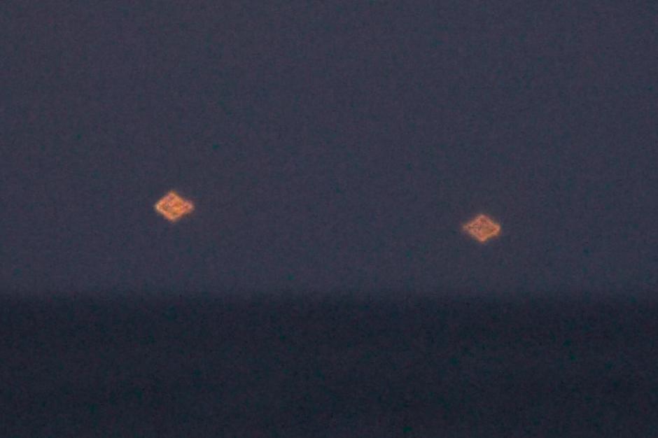 Une image des deux OVNIs tirée de la vidéo prise à Vero Beach © DR/Mufon
