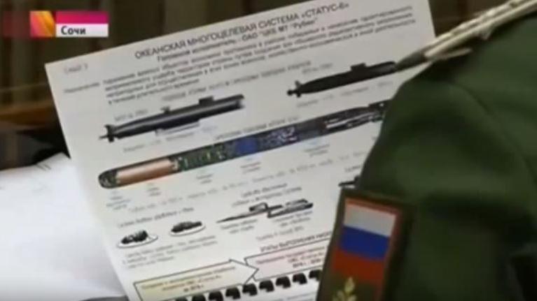 Capture d'écran d'un document militaire secret montré par erreur à la télévision russe, mardi 10 novembre 2015. (YOUTUBE)