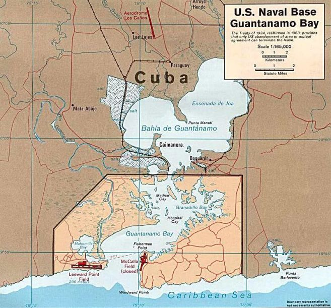 Base Navale de la Baie de Guantanamo Wikipedia - domaine public