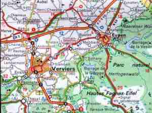 Région de Eupen ( Belgique) L'observation a eu lieu sur la commune de Baelen-Membach, sise au NORD-EST de la province de Liège, fait partie du canton de Limbourg et de l'arrondissement administratif et judiciaire de Verviers.